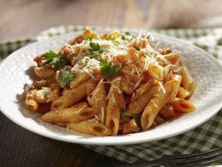 chicken and mushroom penne pasta