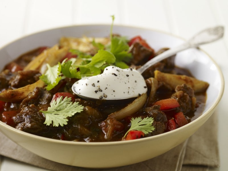 easy slow cooked curried thai style beef stew
