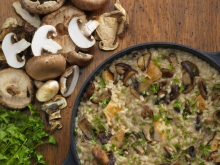 gluten free chicken and mushroom risotto