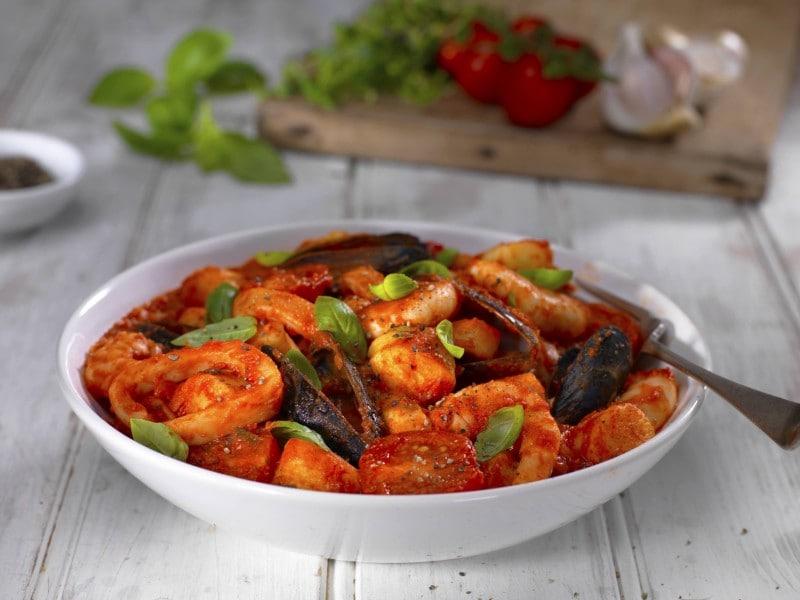 seafood ragu with gnocchi