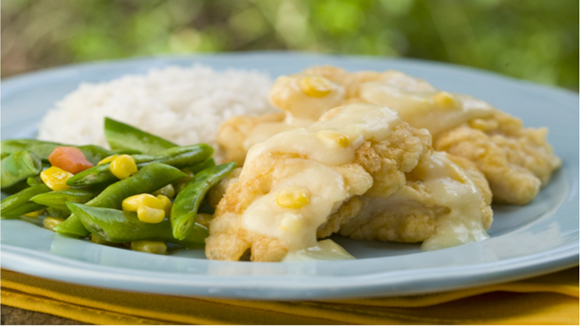 Fish with Corn and Egg Sauce Recipe