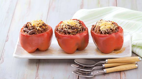 Cheesy Chili Con Carne Stuffed Bell Peppers Recipe