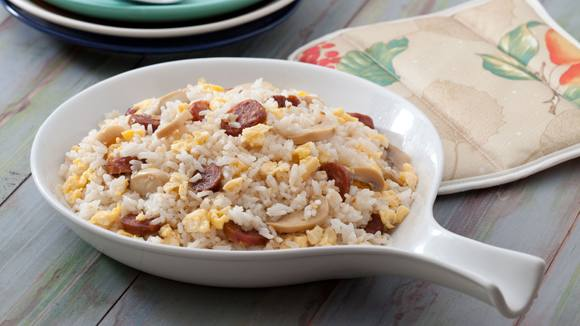 Chorizo Rice with Mushroom and Egg Recipe