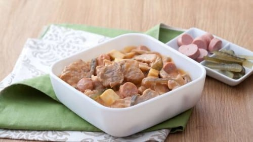Pork with Sausage and Cheese Recipe