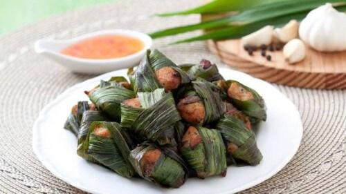 Thai Chicken in Pandan Leaves Recipe