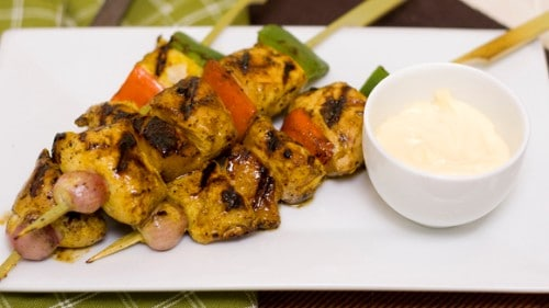 Flavorful Curry Chicken Kebab Recipe