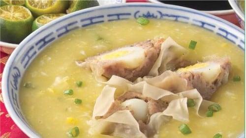 Chicken and Corn with Siomai Recipe