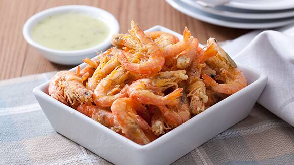 Crispy Shrimplets with Pipino-Pinakurat Sauce Recipe