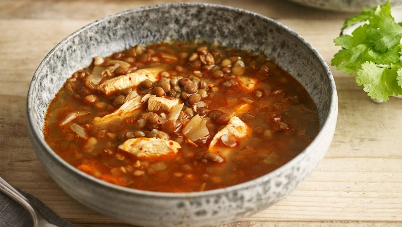 Chicken & lentil soup