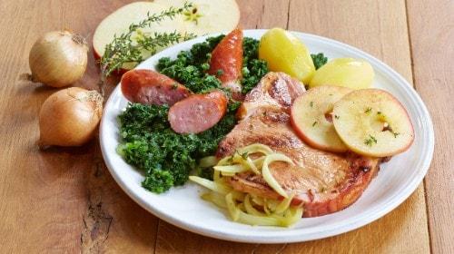 Knorr - Grünkohl mit Kassler und Kochwurst