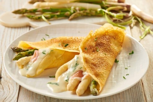 Knorr - Pfannkuchen mit Spargel und Schinken