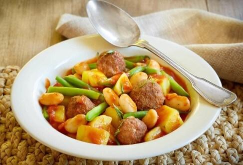 Knorr - Bohnen-Kartoffel-Topf mit Lammbällchen