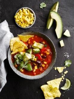 Mexican Veggie & Tortilla Soup