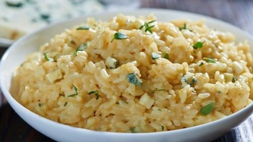 Risotto con queso azul