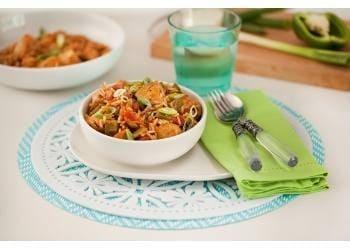 Basmati Jollof Rice with Shredded Chicken