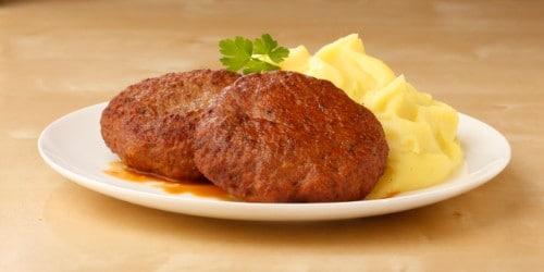 Knorr - Faschierte Butterschnitzel vom Kalb mit Kartoffelpüree