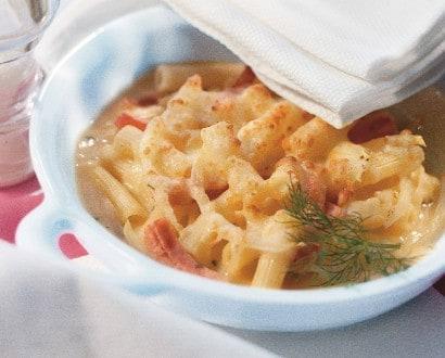 Knorr - Makkaroni mit Schinken-Kräuter-Sauce überbacken