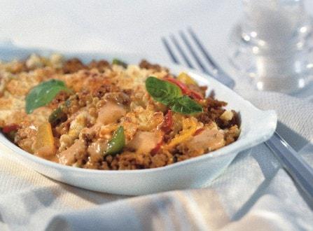 Knorr - Überbackene Fleischspiralen mit Champignons