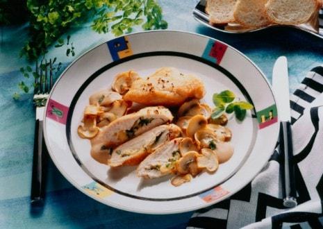 Knorr - Hühnerbrustfilets mit Schwammerl-Weinsauce
