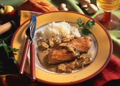 Knorr - Schwammerl-Rostbraten mit Lauch
