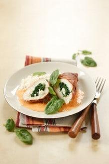 Knorr - Gefüllte Hühnerbrust mit Spinat und Mozzarella
