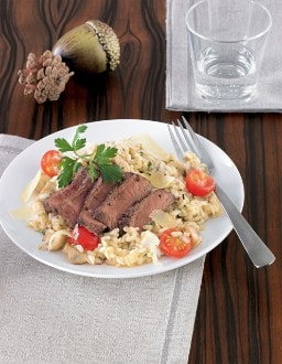 Knorr - Champignon-Risotto mit Rinderfilet