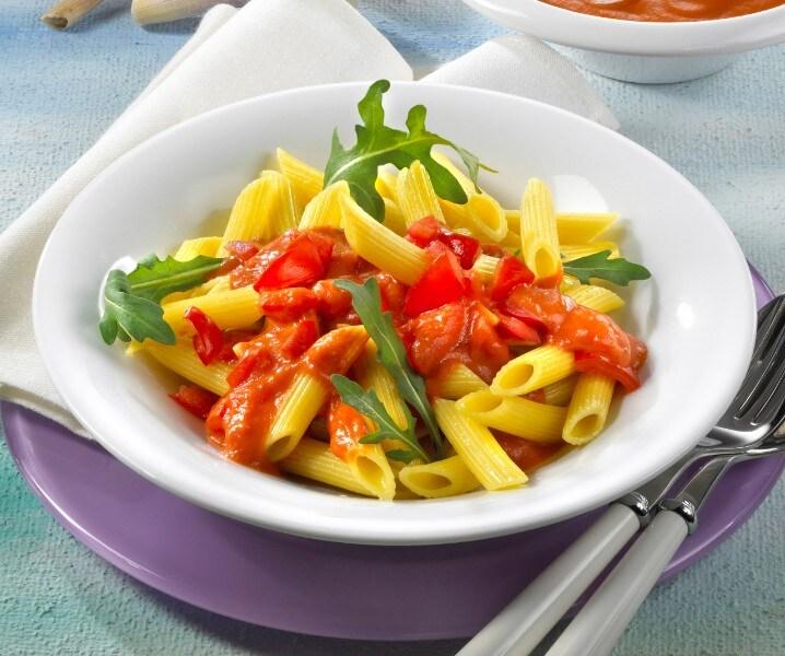 Knorr - Penne mit Gemüsesugo und Rucola