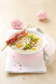 Knorr - Schinkencremesuppe mit Lauch und Kresse