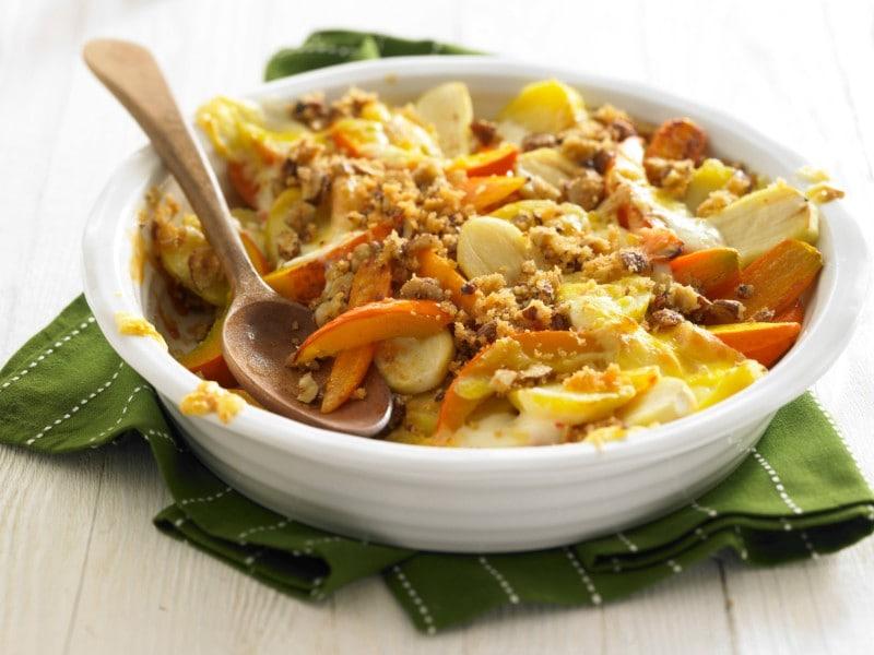 Knorr - Gemüse-Auflauf mit Nusskruste