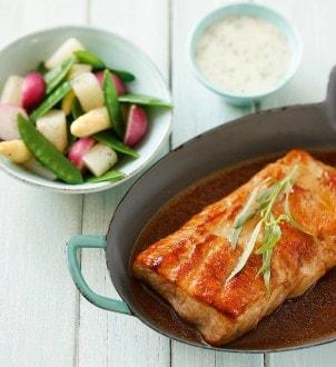 Knorr - Kalbsrückenfilet mit Estragonsauce und Gemüse