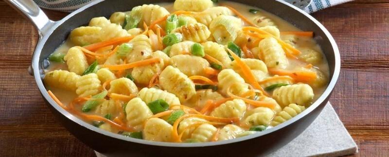 Knorr - Gnocchi in Gemüse-Eierschwammerlsauce