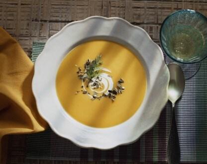 Knorr - Kürbissuppe mit Crème fraîche