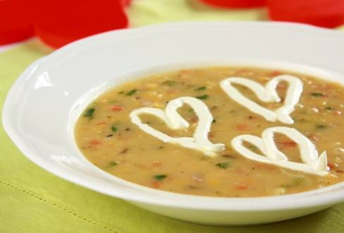 Knorr - Rote Linsensuppe mit Lachs