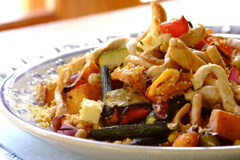 Knorr - Couscous Salat mit Huhn und Marillen