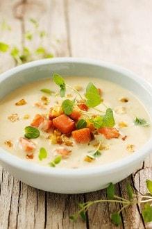 Knorr - Cremige Selleriesuppe mit Lachs