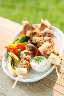 Knorr - Schweinsfilet-Spießchen mit Gartengemüse