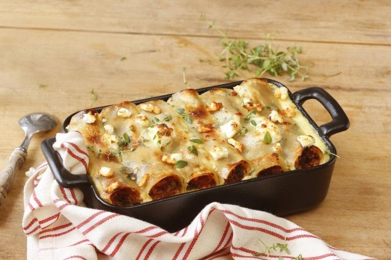 Knorr - Überbackene Tomaten-Spinat Cannelloni