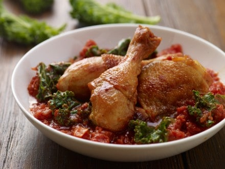 Knorr - Geschmortes Huhn mit Grünkohl