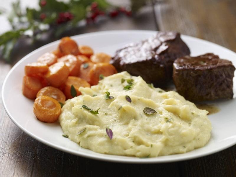 Knorr - Karfiol-Kartoffelpüree mit Carbonara-Sauce