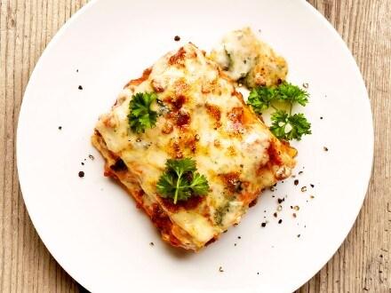 Lasagne med gorgonzolasauce