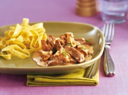 Knorr - Kalbsgeschnetzeltes an feiner Pilzsauce