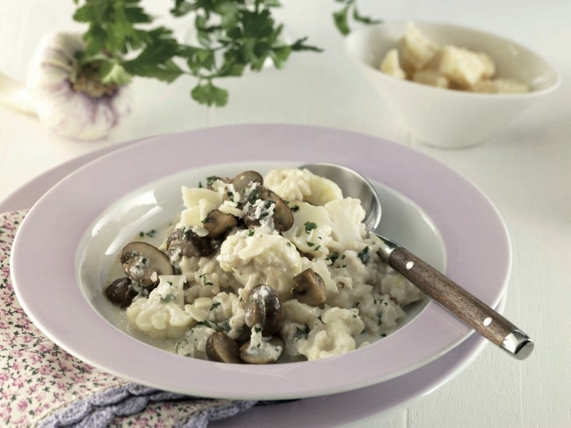 Knorr - Blumenkohl-Pilz-Risotto