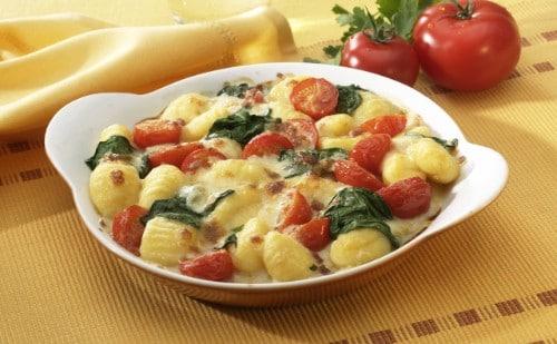 Knorr - Gnocchi-Tomaten-Spinat-Gratin