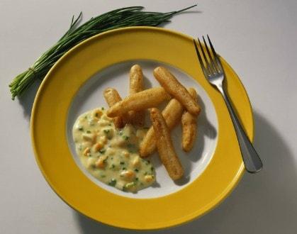 Knorr - Spargeln im Ausbackteig und Eiersauce