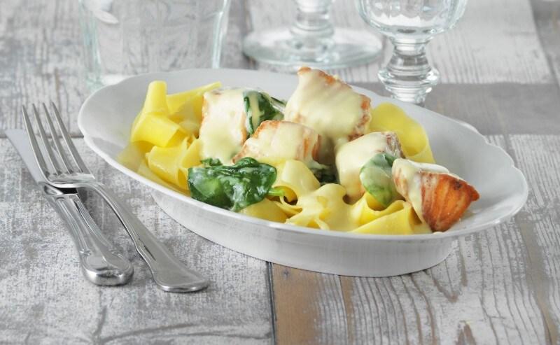 Knorr - Pasta mit Lachs und frischem Spinat