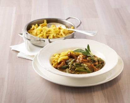 Knorr - Pilz-Gemüse-Pfanne mit Spätzli