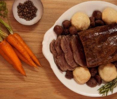 Knorr - Roastbeef mit karamellisierten Marroni