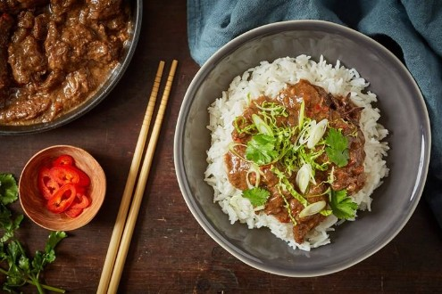 Braised beef with star anise and five spice