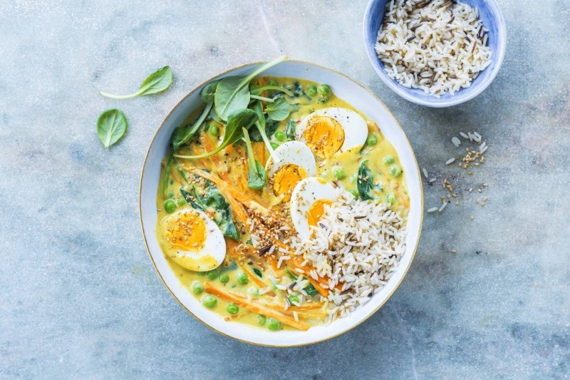 Knorr - Oster Bowl mit Eier-Curry