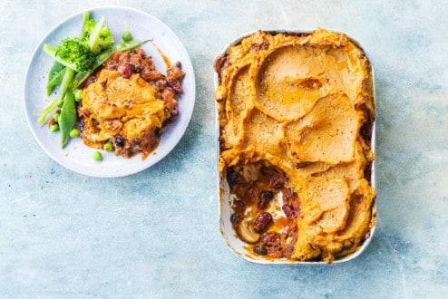 Knorr - Shepherd's Pie mit Süsskartoffeln und Bohnen